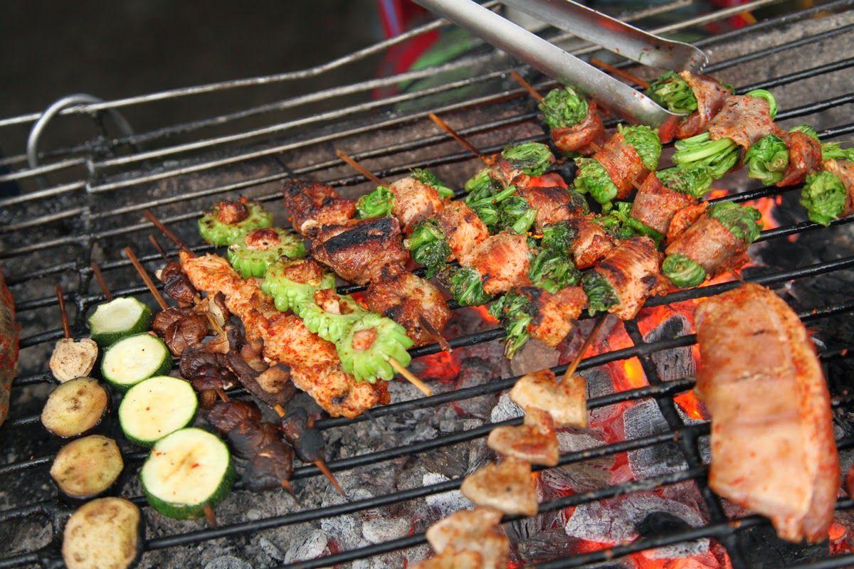 Image result for Thịt bò cuốn rau cải Mèo