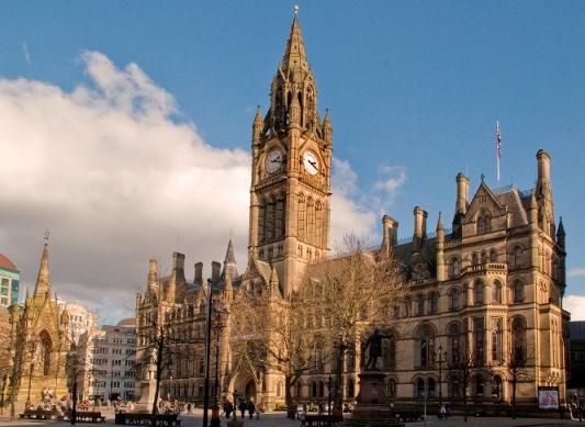 Tòa thị chính (Manchester Hall) thành phố Manchester